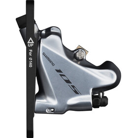 Shimano 105 BR-R7070 Bremssattel Flat-Mount Vorderrad silber